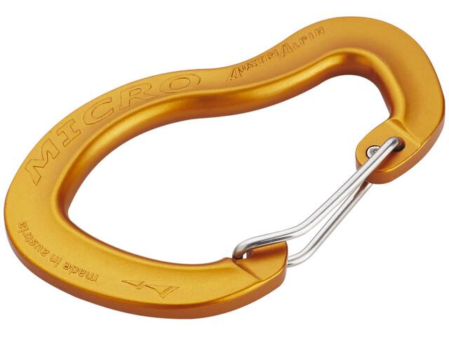 AustriAlpin Micro Wiregate Carabiner orange, eloxiert